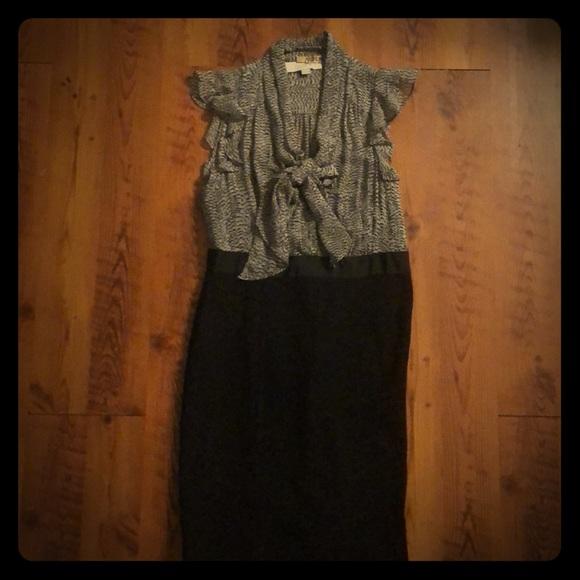 LOFT Dresses & Skirts - Black and Gray Dress by LOFT
